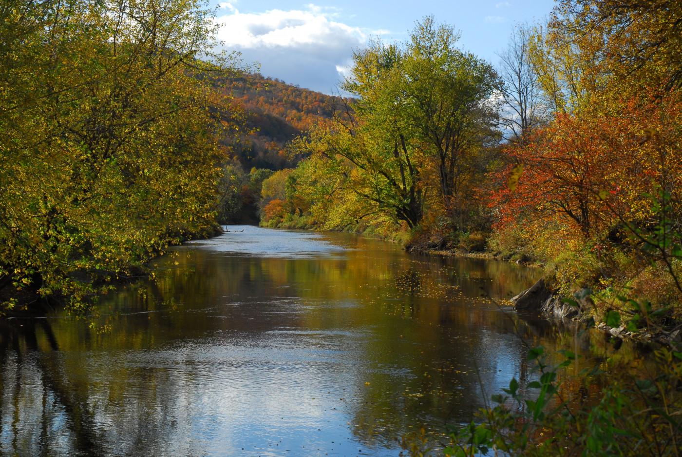 Rivière Missisquoi en automne